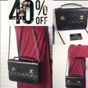 🔥GORGEOUS🔥QUILTED FLAP QUILTED Chanel bri…
